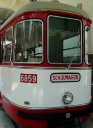 Imagen de una viejo tranvía de la ciudad de Viena.