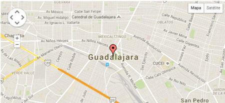 Mapa Satélite de Guadalajara, México
